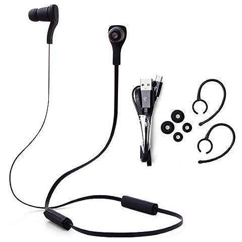 XCSOURCE® Schwarzer Bluetooth 3.0 + EDR - drahtlose Kopfhörer Ohrhörer Kopfhörer MIC-Fernbedienung für Handy iPhone 6 6 Plus 5 5S 4 4S iPhone / iPod / iPad / HTC / Blackberry / Samsung / Nokia / Motorola / LG / Sony / PDA / Tablet PC