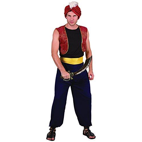 Spassprofi Kostüm arabischer Bandit Größe 48-52 mit Schwert mit Totenkopf Säbel Araber - Ein Bandit Kostüm