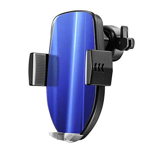 6SlonHy Universal Qi Wireless 360 Grad-Umdrehung Auto-Sensor-Auto-Ladegerät QC 3.0 Air Vent Mount-Handyhalter für iPhone Samsung Blau Regulär -