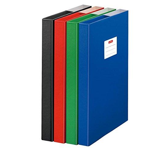 Herlitz Heftbox / DIN A4 / aus Pappe / Farbe: blau