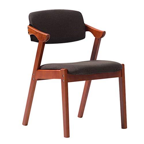 YILIAN zhedieyi Stilvoller Klappstuhl aus massivem Holz mit gepolsterter Rückenlehne und Armlehne aus Stoff Esszimmerstuhl Schreibtischstuhl Lounge Sessel Retro-Design Klappstuhl (Farbe : F) -
