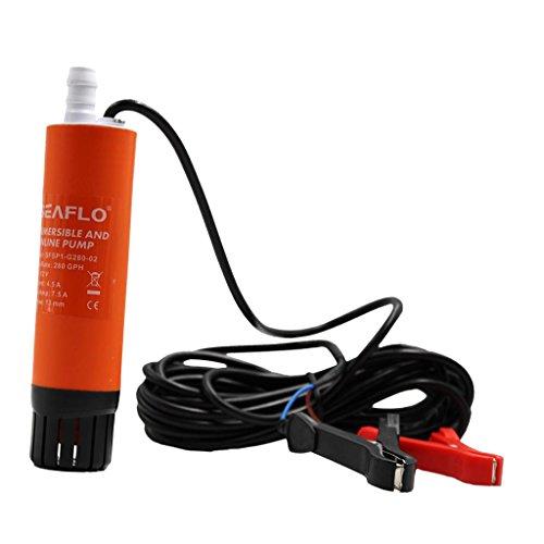MagiDeal 1 Stück Bilgepumpe 280GPH Inline-Wasserpumpe tragbare Bilgepumpe Für Marine Boot Rv