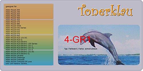 kompatibel Farbband 4-GR1 für: Adler-Royal Junior TEN als Ersatz für Adler-Royal leer/GR1