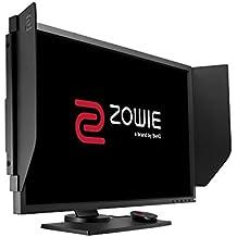 """BenQ ZOWIE XL2740 - Monitor de 27"""" y 240Hz para e-Sport (Black e-Qualizer, soporte regulable en altura, Color Vibrance y S-Switch), gris oscuro y rojo"""