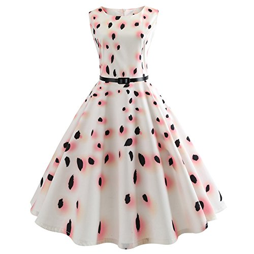 Dress Fancy Kostüm 60er 50er - Flapper Dress with Short Sleeves Gatsby Party Women's Dress Style Girls Princess Fancy Dress Costume 1950er Vintage Polka Dots Pinup Retro Rockabilly Kleid Cocktailkleider