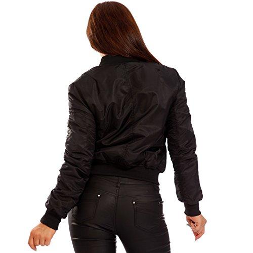 Young-Fashion - Blouson - Blouson - Uni - Manches Longues - Femme Schwarz