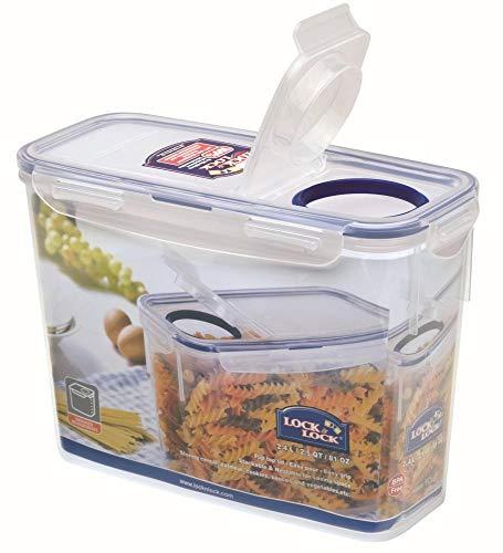 2,4/l 112/x 237/x 165/mm Set by Danto/® Lock /& Lock Slender Set 6 contenitori ermetici con Chiusura Flip-Top contenitori per Alimenti Vari Trasparenti
