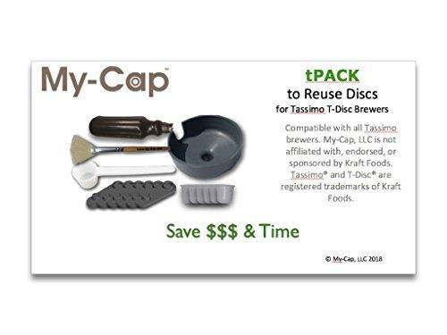 my-cap Toilettenpapiertasche TPack 14x 7-komplett Lösung, um Ihre eigenen Scheiben für Tassimo T-Disc Brauer, Wiederverwendung, wiederverwendbar, nachfüllbar