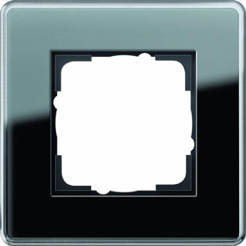 Gira 0211505 Abdeckrahmen 1 Fach Esprit Glas C, schwarz