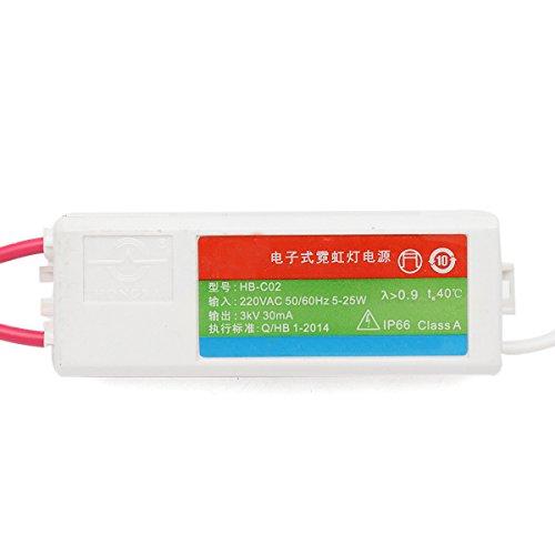 Trihedral-X Elektronischer Neontrafo aus Kunststoff HB-C02 Stromversorgung des Leuchtstoffschilds 5-25W 3KV 30mA Trihedral-X (Kv-stromversorgung)