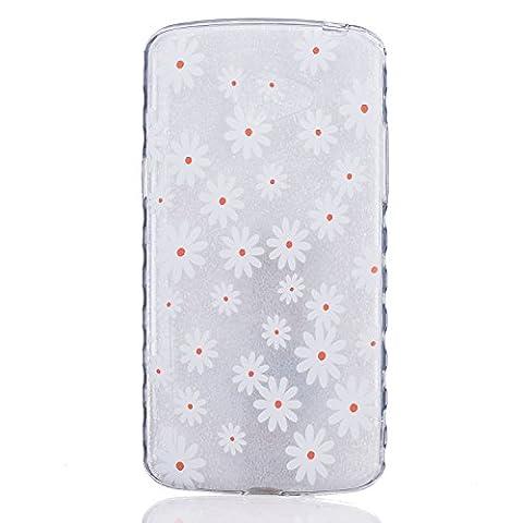 Etui LG K5, Coque LG K5, Cozy Hut® Petite marguerite jaune Pattern Etui Housse Téléphone Couverture de doux Plastique Coque pour LG K5 - Petit