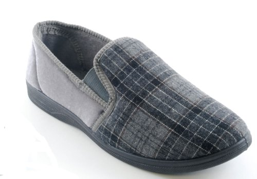 Socks Uwear  Slumberzzz,  Herren Durchgängies Plateau Sandalen mit Keilabsatz Grau