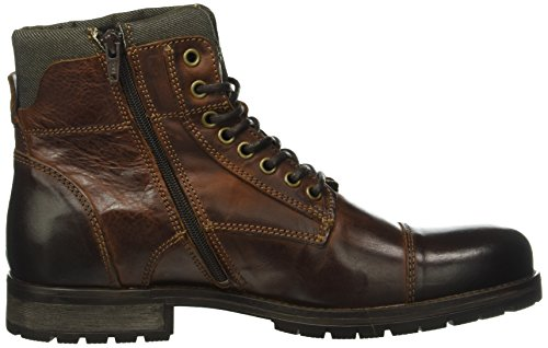 JACK & JONES Herren Jfwalbany Leather Boot Brown Stone Combat Braun (Brown Stone)