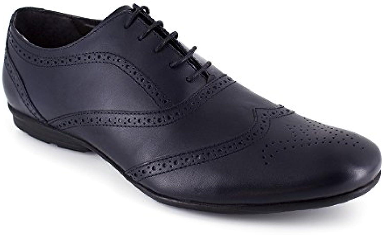 Richelieu J.Bradford Cuero Marino  Zapatos de moda en línea Obtenga el mejor descuento de venta caliente-Descuento más grande