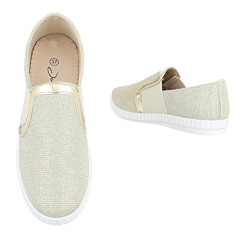 Ital-Design - Low-top Donna , bianco (Bianco argento), 41