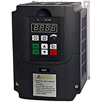 220V 1.5KW Inversor de frecuencia, monofásico Convertidor de frecuencia de 3 fases de salida del convertidor de velocidad ajustable de frecuencia de accionamiento del inversor