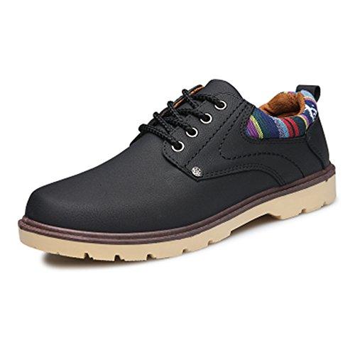Preisvergleich Produktbild spritech (TM) Herren Fashion British Komfort rutschfeste Schuhe Schuh flach Martin Stiefel, schwarz, US:7