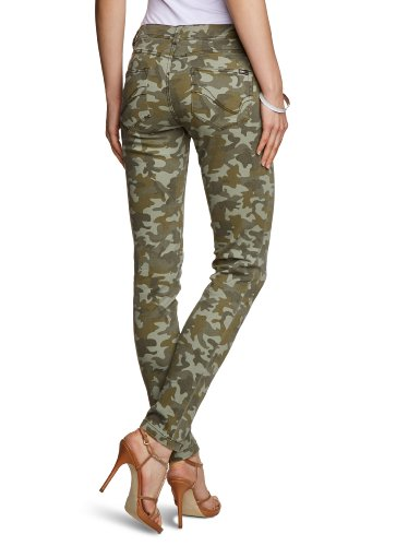 ONLY Damen Hose 15075400/SKINNY NYNNE PRINTED PANT NOOS Grün (Dusty Olive)