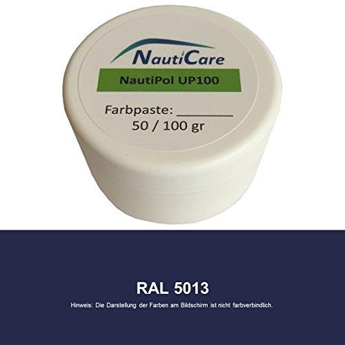 NautiCare NautiPol UP 100 Farbpaste 100 g - Farbe Kobalt-Blau RAL 5013 - Farb-Paste zum Einfärben von Polyesterharz - 35 RAL Farben zur Auswahl