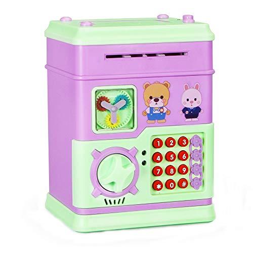 FIRMON Hucha de Cerdito para Dinero en Efectivo, con contraseña electrónica, cajero automático, Juguete para niños