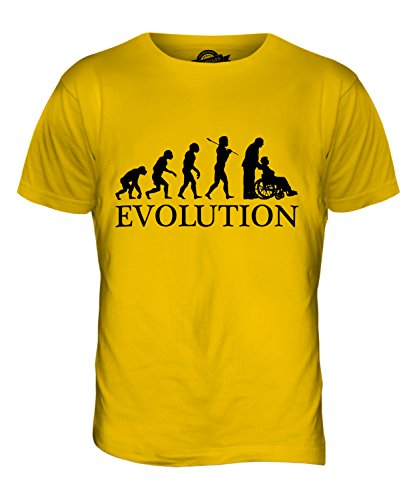 CandyMix Pflegerin Evolution Des Menschen Herren T Shirt Dunkelgelb