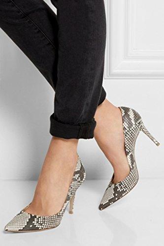 EDEFS - Escarpins Femme - Chaussures à Talons Hauts - Bout Pointu fermé - Classique Bureau Soiree Snake
