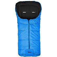 Altabebe AL2202 - 38 Basic Saco de invierno para cochecito de bebé, color turquesa-negro