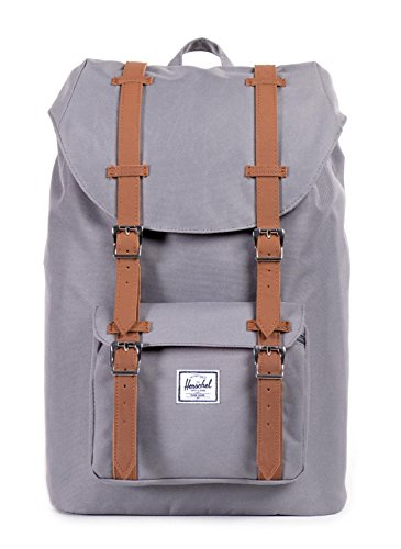 Herschel Little America Mid Volume, Sac à dos loisir - Gris (Grey), Taille Unique