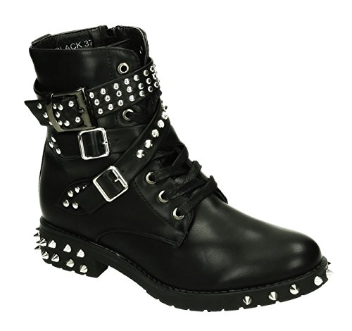 King Schwarz 03 Motardes Bottes Shoes Of femme apwq8ZB7a