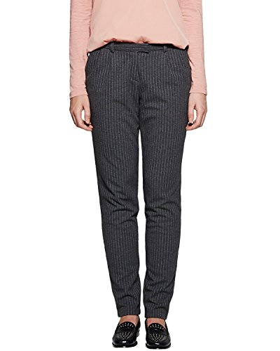 Comma CI 88.512.76.8157 - Pantalon - Femme Gris (grey/black Pin Stripe 98j5)