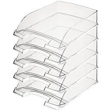 Leitz 52260002 Briefkorb Transparent Plus Briefkorb Transparent Plus, A4, Polystyrol, glasklar, 5er Packung