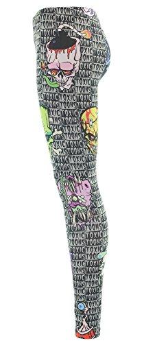 Kreepsville 666 Leggings TOXIC TOONS UGLY HEADS Multicoloured