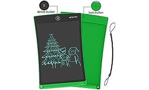 NEWYES Schreibtafel LCD Writing Tablet, 8,5 Zoll, Papierlos für Schreiben Malen Notizen (Grün)