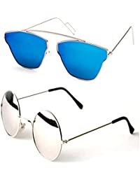 0159a7d0c92 Younky Combo Of Uv Protected Cateye Stylish Blue Mercury Sunglasses For Men  Women Boys   Girls