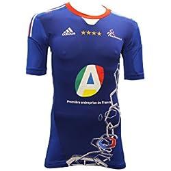 Adidas TF HB JSY M-Camiseta Maillot de balonmano Adidas Techfit para hombre, color azul, color Azul - azul, tamaño 9