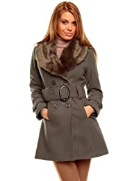 Beautiful short coat with fake fur collar (0600) immediately available