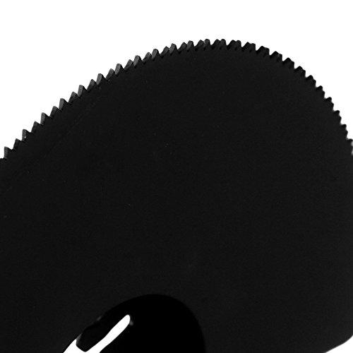 cnbtr 88mm schwarz kohlenstoffreicher Stahl Universal Pendelndes Multitool Halbkreis Sägeblätter mit Senkkopf Set von 5