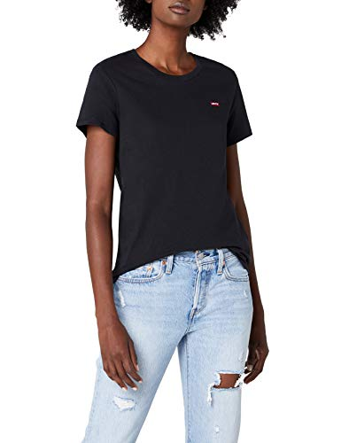 Levi's Damen T-Shirt Perfect Tee, Schwarz (Caviar 2 0008), Medium