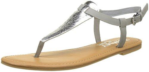 Hilfiger Denim Damen METALLIC Flat Thong T-Spangen Sandalen, Silber (Silver 000), 37 EU Metallic Thong Sandal
