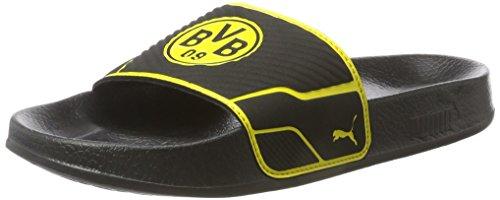 Puma Unisex-Erwachsene Leadcat TS Bvb Badeschuhe, Schwarz (Puma Black-Cyber Yellow), 44.5 EU