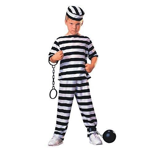 StarTreene Gefangener Halloween Kostüm für Damen und Kinder Sträfling Gefängnis Gefangene Uniform