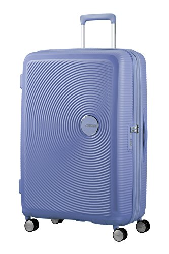 American Tourister - Soundbox Spinner Extensible, 77cm, 97/110 L - 4.2 KG, Bleu (Denim Blue)