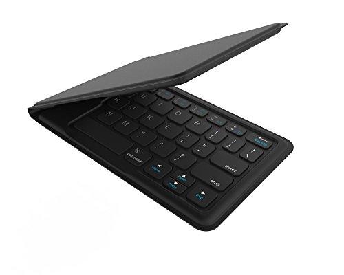Kanex faltbare MultiSync Bluetooth Tastatur - verbindet bis zu 4 Geräte gleichzeitig  [deutsches QWERTZ-Layout | ergonomisch, kompaktes Design | für iOS, Mac OS, Apple TV (3rd, 4th Gen.), Android - Gen Apple Ipad 3rd