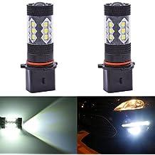 katur 2 bombillas para faros de luz diurna, faros antiniebla, lentes proyectoras, con 16 LED SMD 3030 H8 y H11, 900 lm, 80 W, alta potencia, para diferentes vehículos, conducción con luz diurna, 6000 K, blanco xenón, 12 V