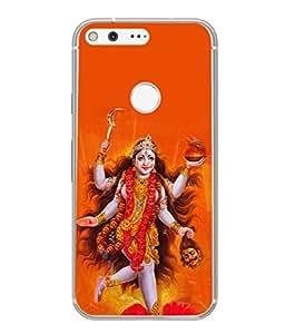 Snapdilla Designer Back Case Cover for Google Pixel XL (Design Statue Background Wallpaper Hindu Art Culture)