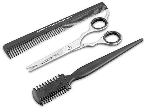 Bartschere Haarschere Set 5 Zoll 12.7 cm mit Kamm und Ausdünner aus Solingen