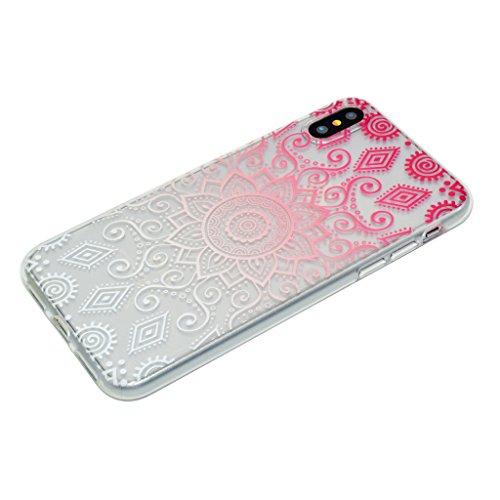 Custodia per iPhone X Cover , YIGA amare uccelli Trasparente Silicone Morbido TPU Shell Caso Protezione Case per Apple iPhone X (5,8 pollici) XX38