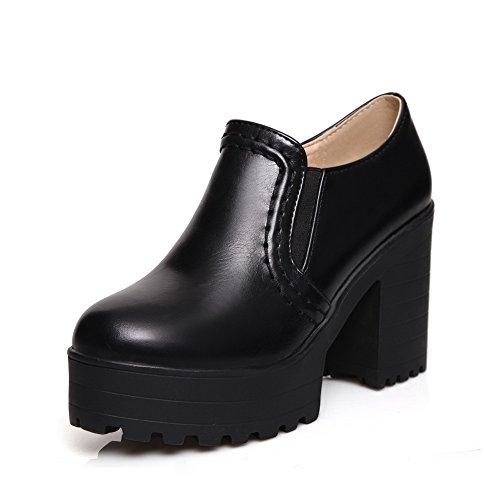 BalaMasa elastica alta da donna con tacco, in microfibra, pompe-Shoes Black