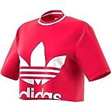 adidas Damen Cropped Tee T-Shirt S Energy Pink F17