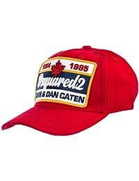 04af0389805 Dsquared2 Accessoires Homme Casquette Baseball Logo Rouge